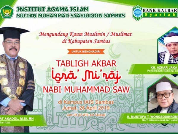 Tabliqh Akbar Isra Miraj Nabi Muhammad SAW