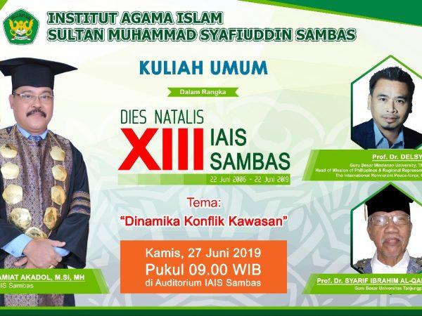 Kuliah Umum Dalam Rangka Dies Natalis XIII IAIS Sambas