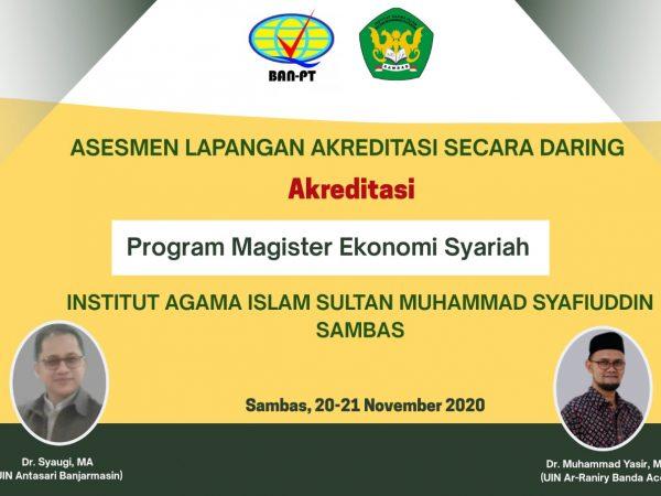 Asesmen Lapangan Daring Program Studi Magister Ekonomi Syariah