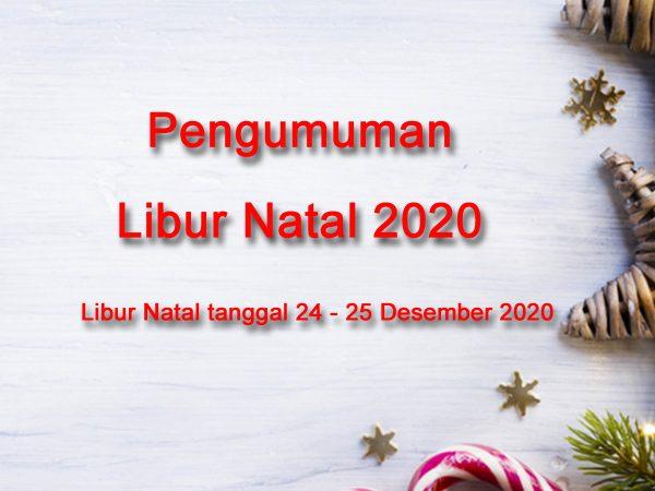Pengumuman - Libur Hari Raya Natal 2020