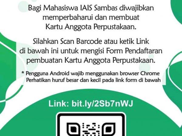 Info Perpustakaan – Memperbaharui & Membuat Kartu Anggota